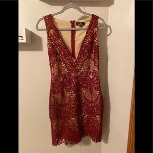 Lulus Burgundy Bodycon Mini Dress!!